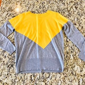 41 Hawthorn Yellow & Gray Asymmetrical Sweater